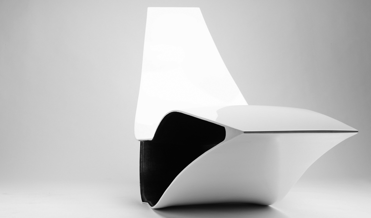 Von Johann, Christoph Fraundorfer, Rocking Chair, Schaukelstuhl, Carbon Liege, fibre glass design furniture, sichtkarbon